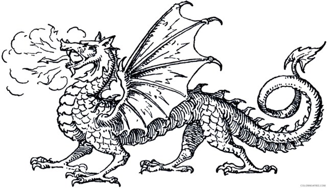 Black and White Dragon Coloring Pages free dragon 17c17d17