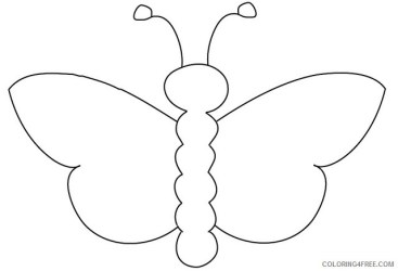 Butterfly Outline Coloring Pages butterfly outline flickr photo sharing Printable Coloring4free Coloring4Free com