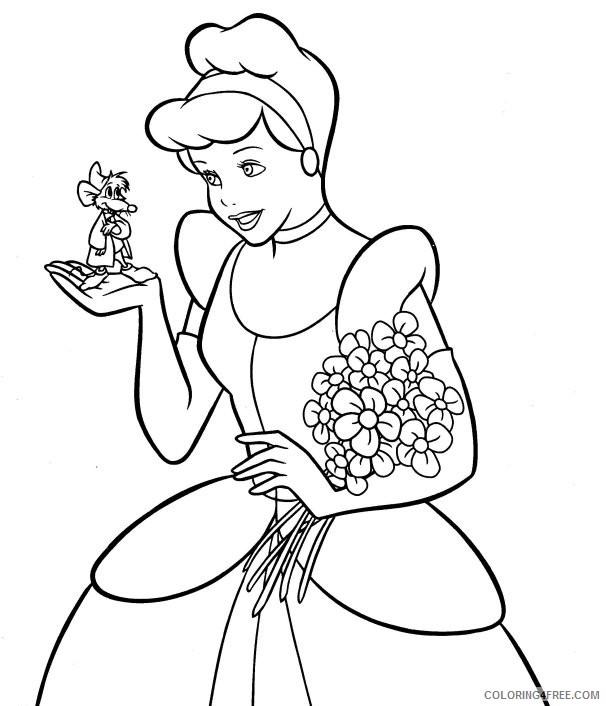 Cinderella Coloring Pages Cartoons Princess Cinderella Sheets E1420812829983 Printable 2020 1792 Coloring4free Coloring4free Com