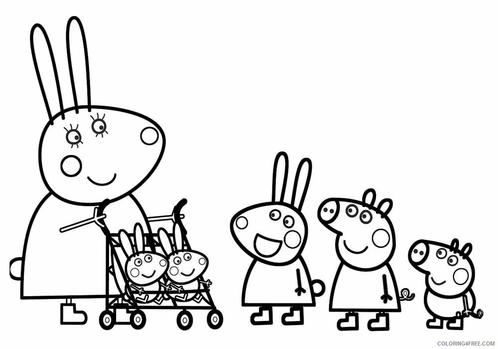 Peppa Pig Coloring Pages Cartoons Peppa Kids Pictures Printable 2020 4834 Coloring4free Coloring4free Com