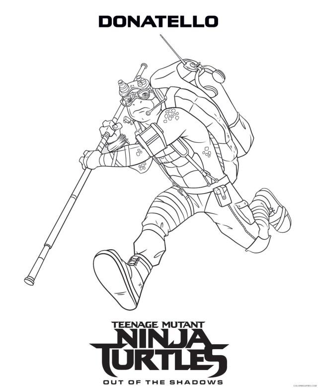 Teenage Mutant Ninja Turtles Coloring Pages Cartoons Donatello