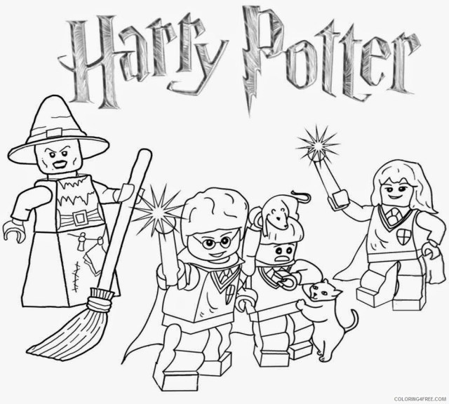 Harry Potter Coloring Pages TV Film Harry Potter Lego Lego