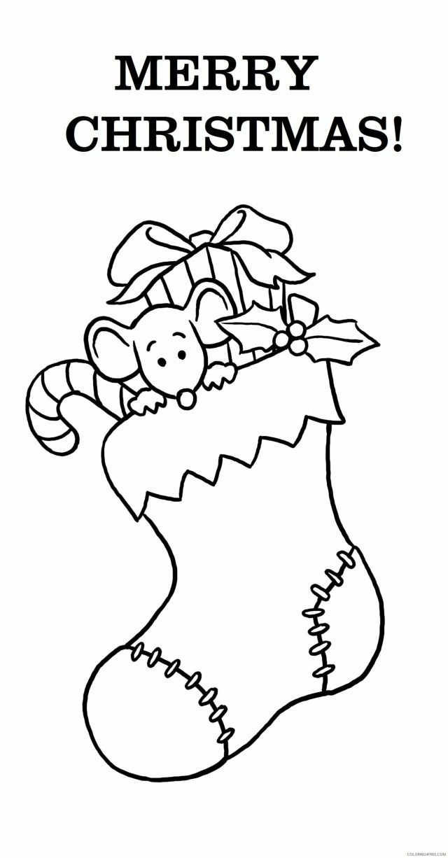 Merry Christmas Coloring Pages Merry Christmas Stocking Printable