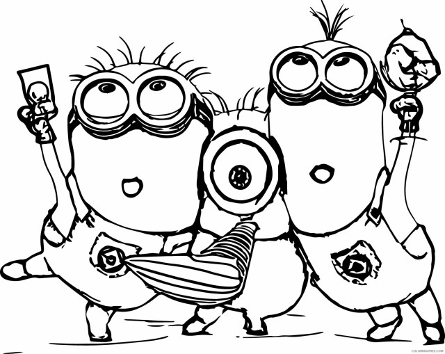 Minions Coloring Pages TV Film Minion Printable 20 20