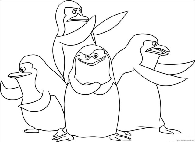 The Penguins of Madagascar Coloring Pages TV Film Printable 30
