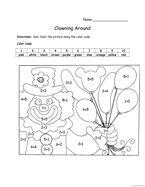small resolution of 2nd Grade Coloring Pages Educational Color by Addition Worksheet Print 2020  0227 Coloring4free - Coloring4Free.com