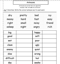 2nd Grade Coloring Pages Educational English Worksheets Antonyms 2020 0119  Coloring4free - Coloring4Free.com [ 1650 x 1275 Pixel ]