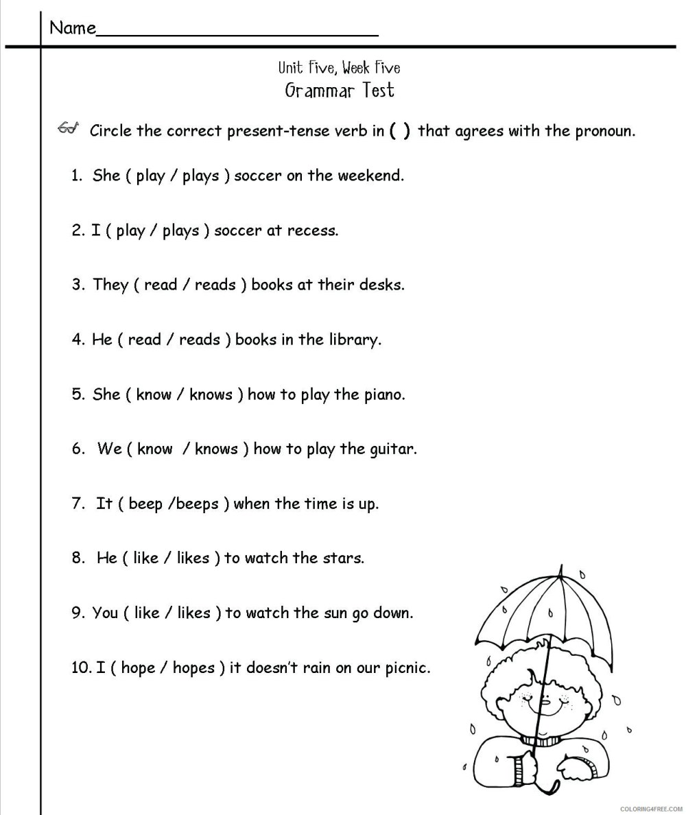 medium resolution of 2nd Grade Coloring Pages Educational English Worksheets Grammar 2020 0122  Coloring4free - Coloring4Free.com