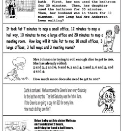 2nd Grade Coloring Pages Educational Math Word Problems Worksheet Print  2020 0237 Coloring4free - Coloring4Free.com [ 1450 x 1024 Pixel ]