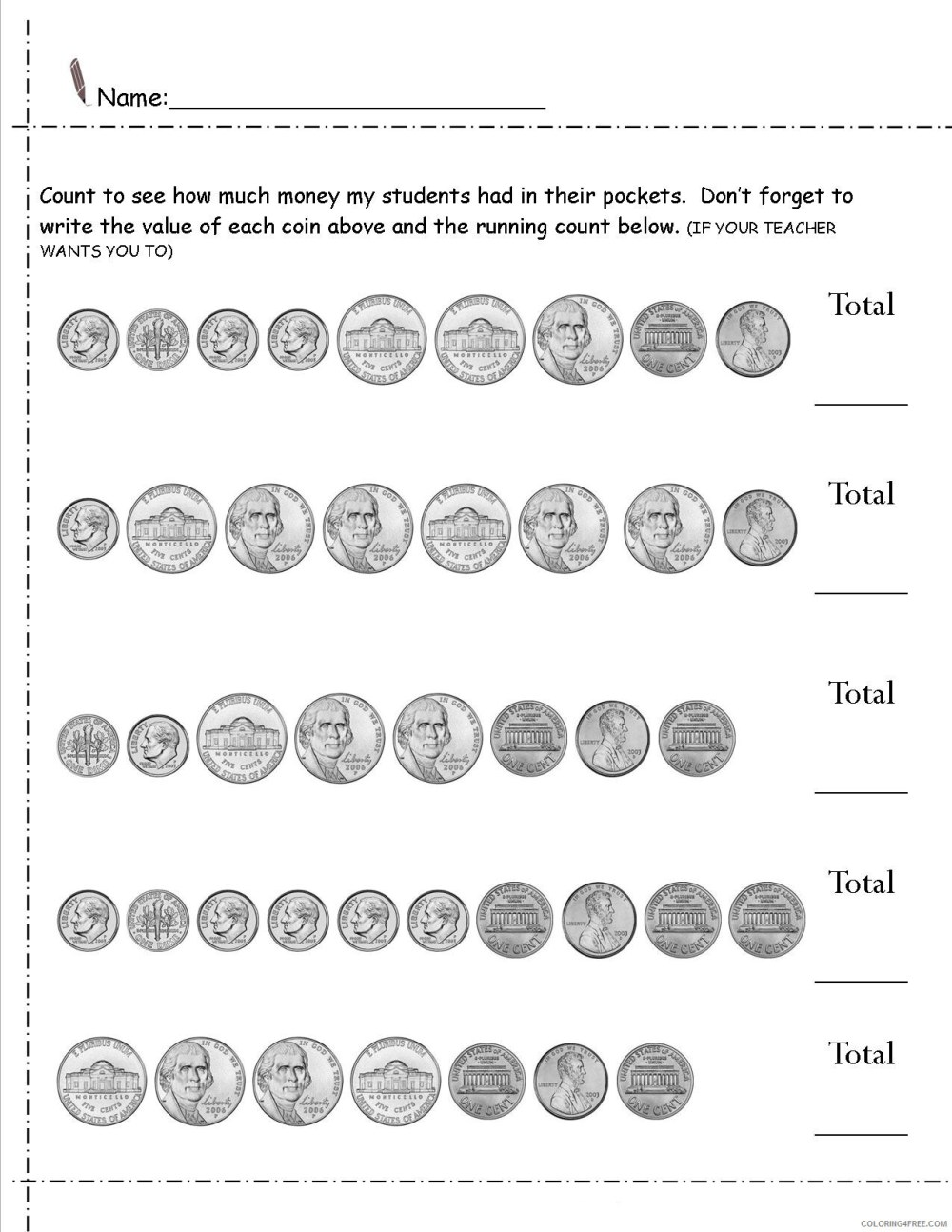 medium resolution of 2nd Grade Coloring Pages Educational Money Worksheets Printable 2020 0160  Coloring4free - Coloring4Free.com