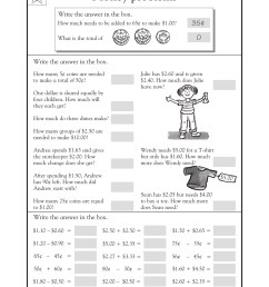 3rd Grade Coloring Pages Educational Math Word Problems Money Print 2020  0261 Coloring4free - Coloring4Free.com [ 2200 x 1700 Pixel ]