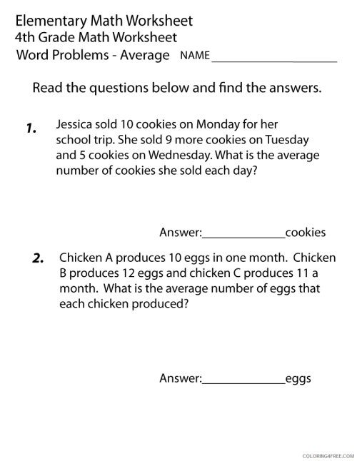 small resolution of 4th Grade Coloring Pages Educational Math Word Problem Worksheet Print 2020  0335 Coloring4free - Coloring4Free.com
