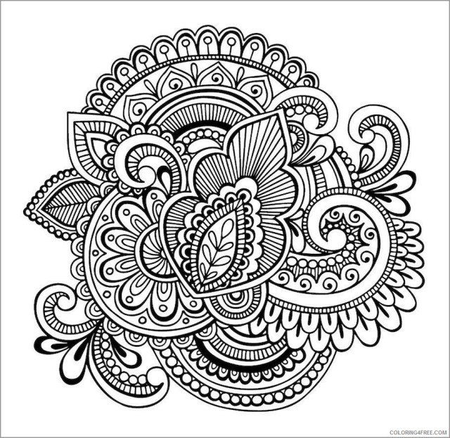 Abstract Coloring Pages Adult abstract flower for adults Printable