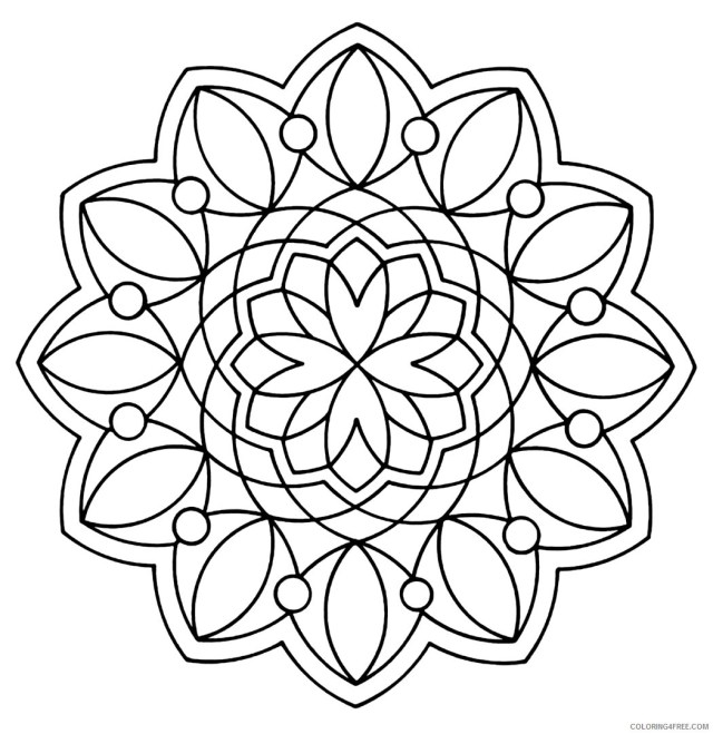 Geometric Design Coloring Pages Adult geometric Printable 28 28