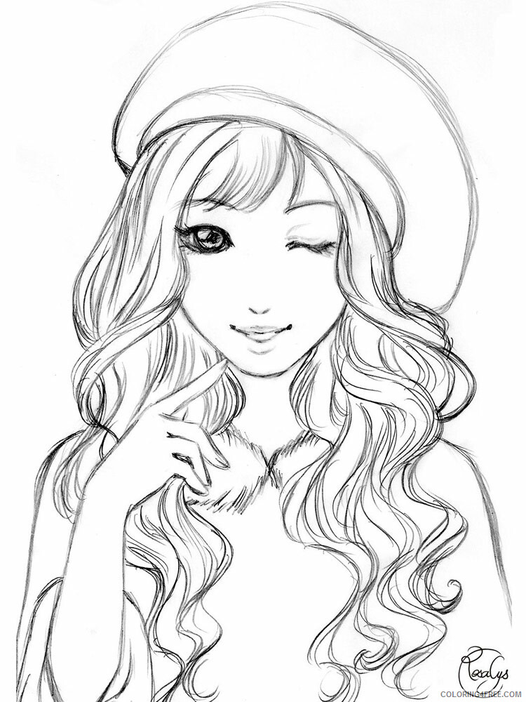 Beautiful Girl Coloring Pages : beautiful, coloring, pages, Beautiful, Coloring, Pages, Girls, Printable, Coloring4free, Coloring4Free.com