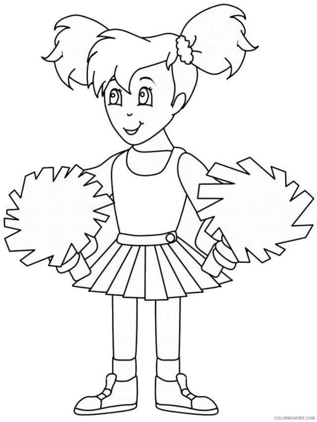 Cheerleader Coloring Pages for Girls cheerleading_coloring19