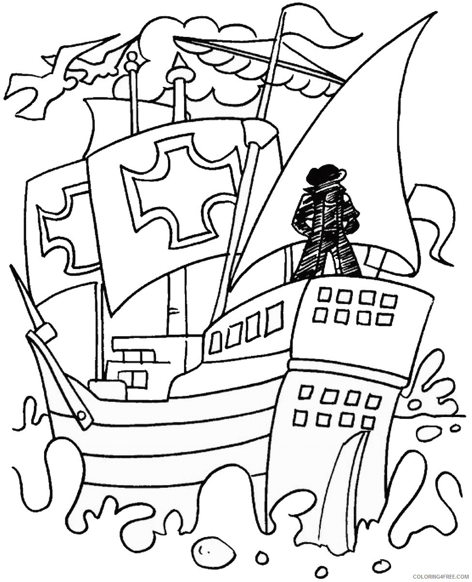 hight resolution of Columbus Day Coloring Pages Holiday colombus_day_coloring21 Printable 2021  0130 Coloring4free - Coloring4Free.com