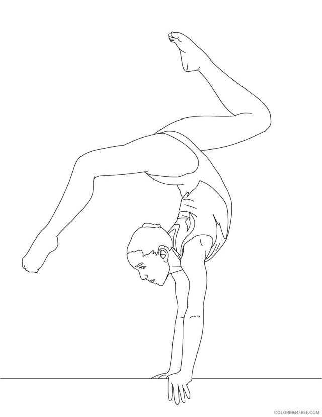 Gymnastics Coloring Pages for Girls Gymnastic Printable 27 27