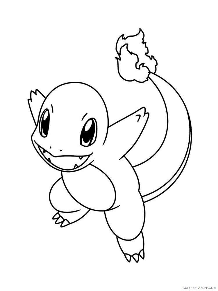 Pokemon Coloring Pages Charmander : pokemon, coloring, pages, charmander, Charmander, Pokemon, Characters, Printable, Coloring, Pages, Coloring4free, Coloring4Free.com