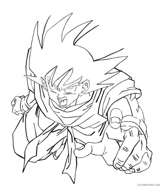 Dragon Ball Z Printable Coloring Pages Anime Dragon Ball Z of Goku