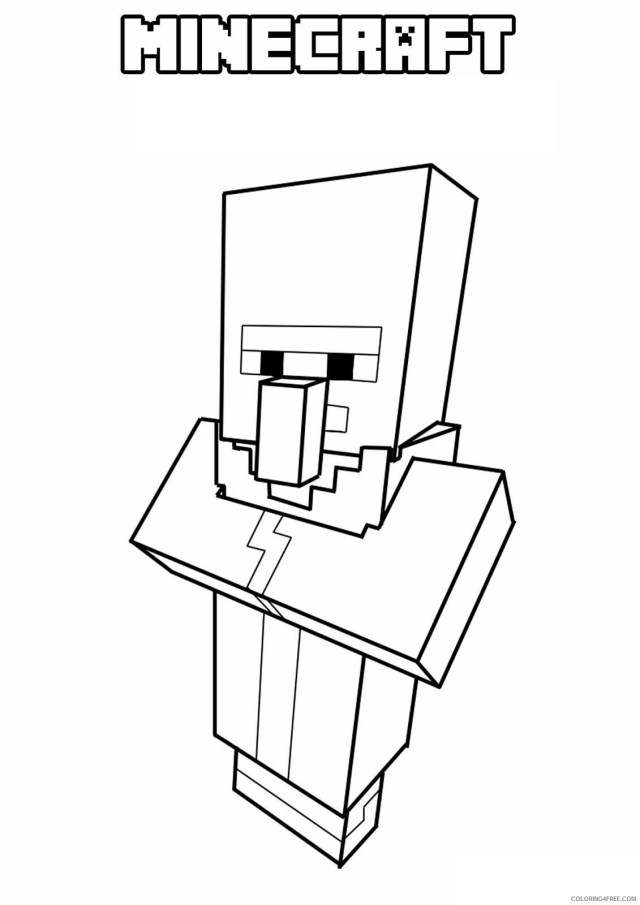 Minecraft Coloring Pages Games kids simple online Printable 14