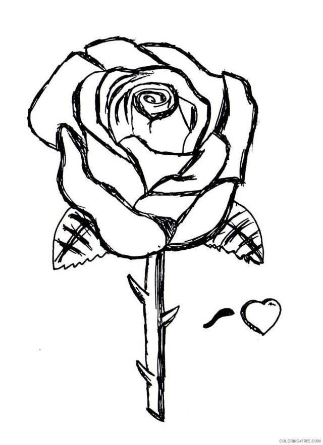 Rose Coloring Pages Flowers Nature Free Rose Printable 29 29