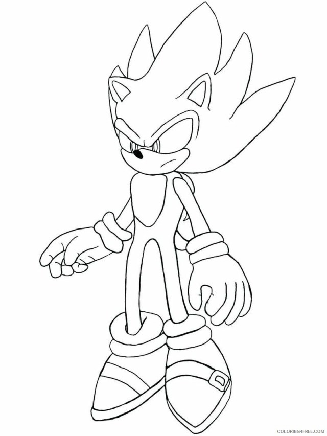 Sonic Coloring Pages Games sonic the hedgehog characters Printable