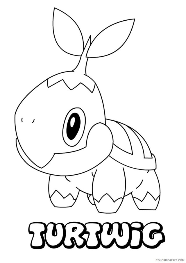 Turtwig Pokemon Characters Printable Coloring Pages Pokemon To