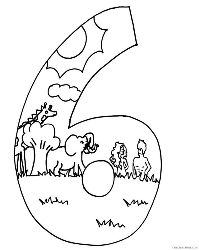 Creation Coloring Pages 25th Day of Creation Printable 25 18257