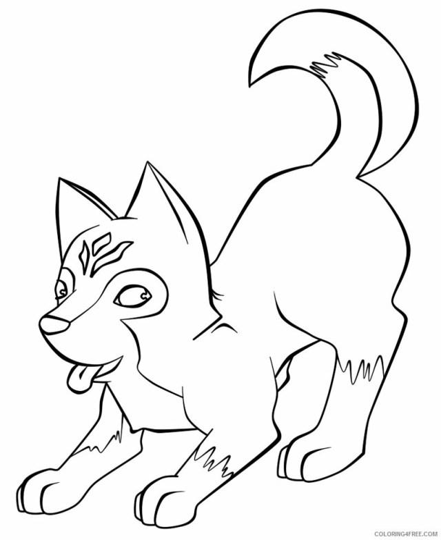 Husky Coloring Pages Animal Printable Sheets Cute Husky 18 18