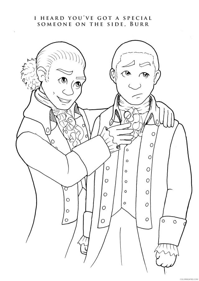 Alexander Hamilton Coloring Pages Printable Sheets My Hamilton