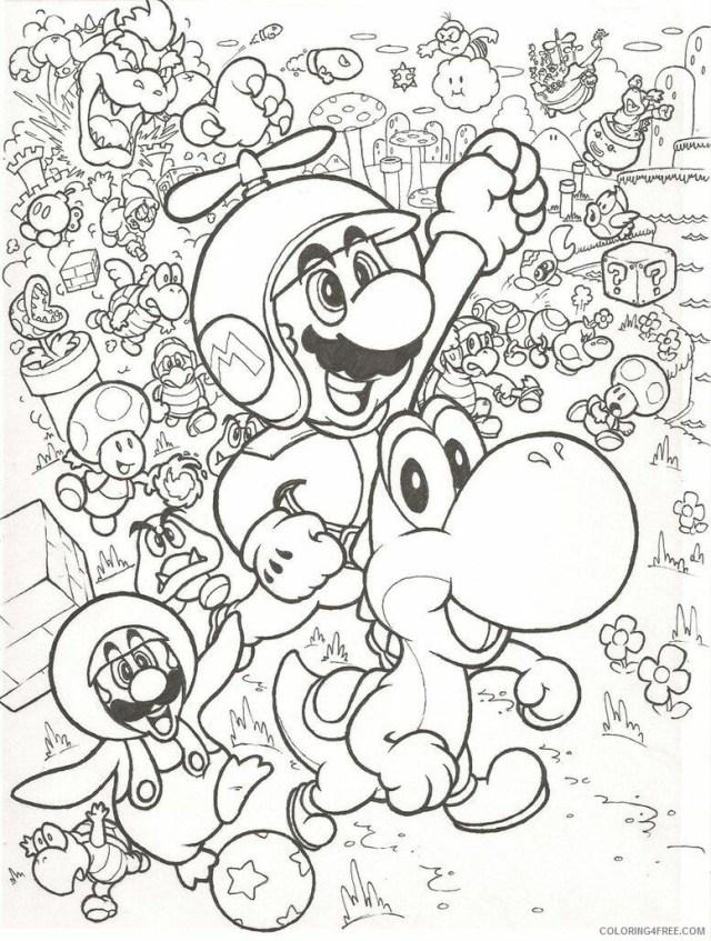 All Mario Character Coloring Pages Printable Sheets Mario Bros
