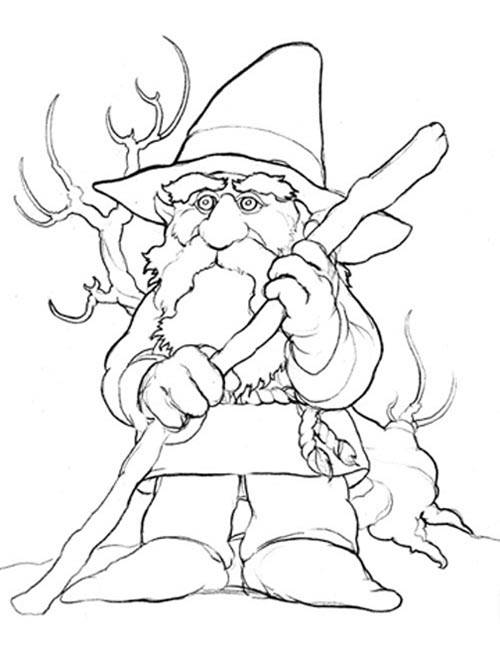 Free printable Gnomes coloring pages