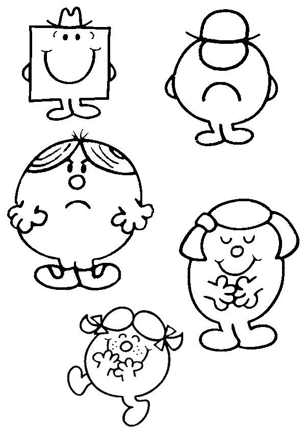 Free printable Mr. Madam coloring pages