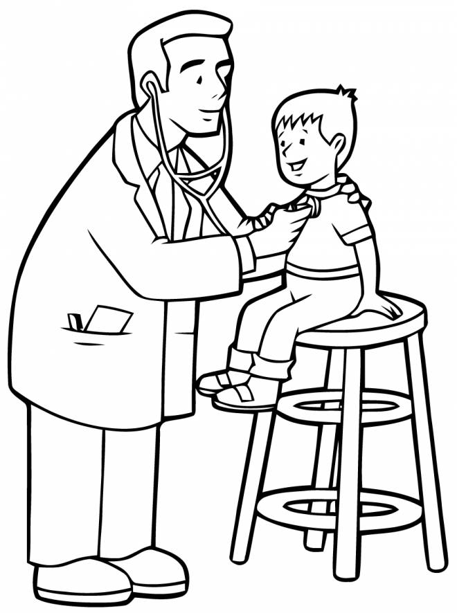 Free printable Hospital coloring pages