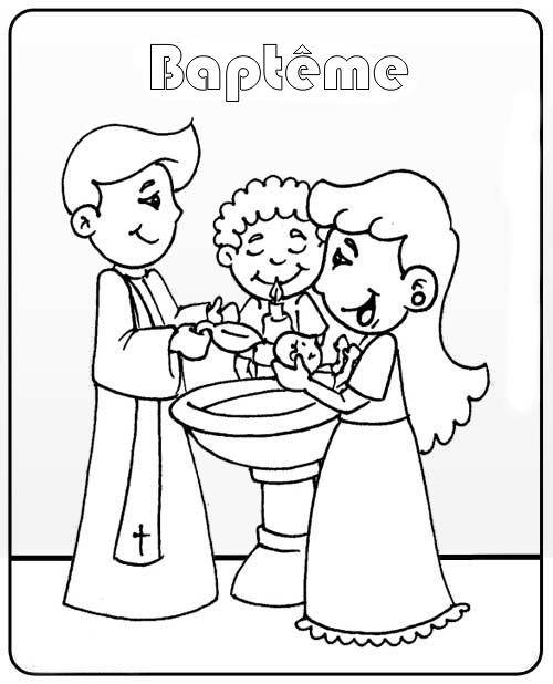 Free printable Baptism coloring pages