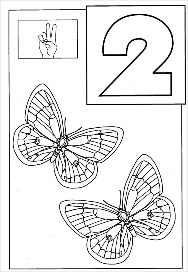 number 2 coloring page # 21