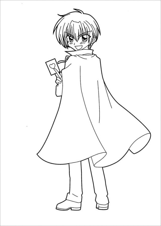 Anime Girl Neko Coloring Pages Printable - ColoringBay