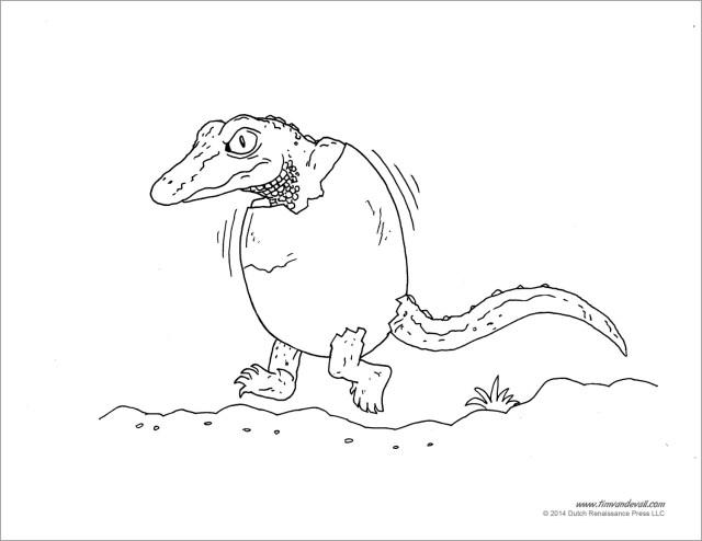 Baby Crocodile Coloring Page - ColoringBay