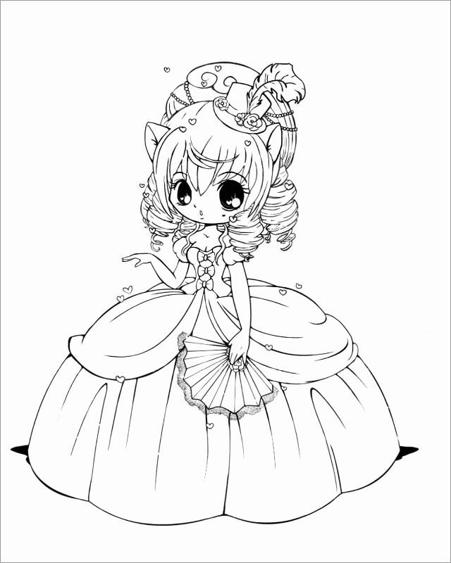 Chibi Kawaii Anime Coloring Page - ColoringBay