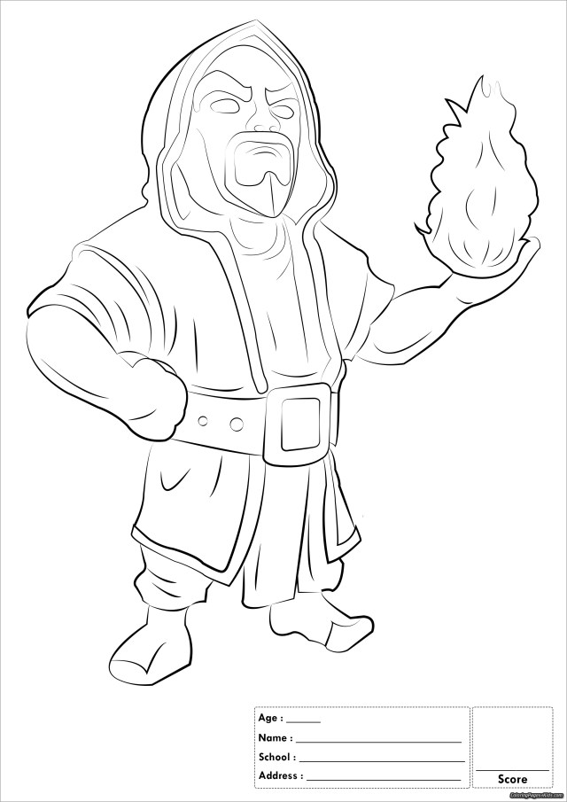 Clash Of Clans Coloring Pages Witch - ColoringBay
