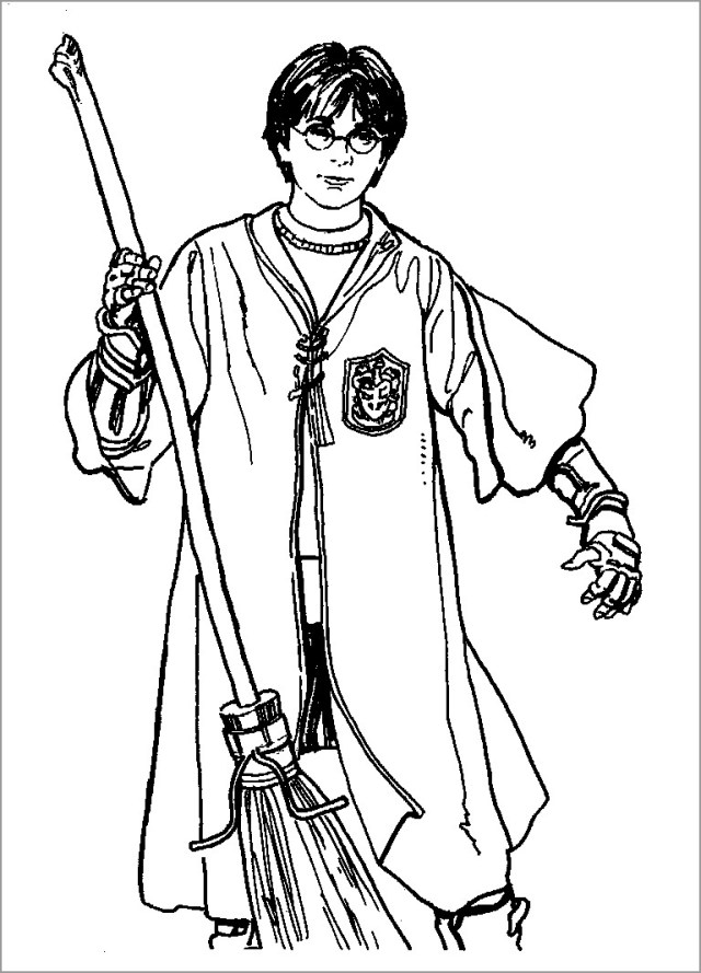 Free Printable Harry Potter Coloring Pages for Kids - ColoringBay
