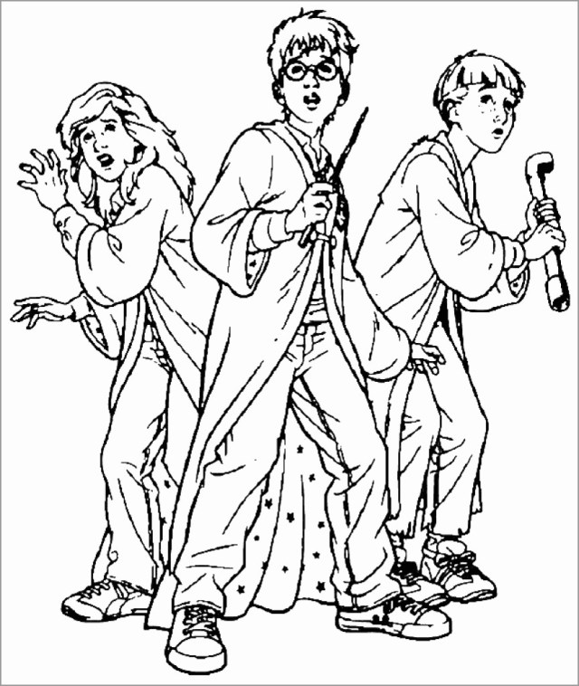 Harry Potter Printable Coloring Pages for Kids - ColoringBay