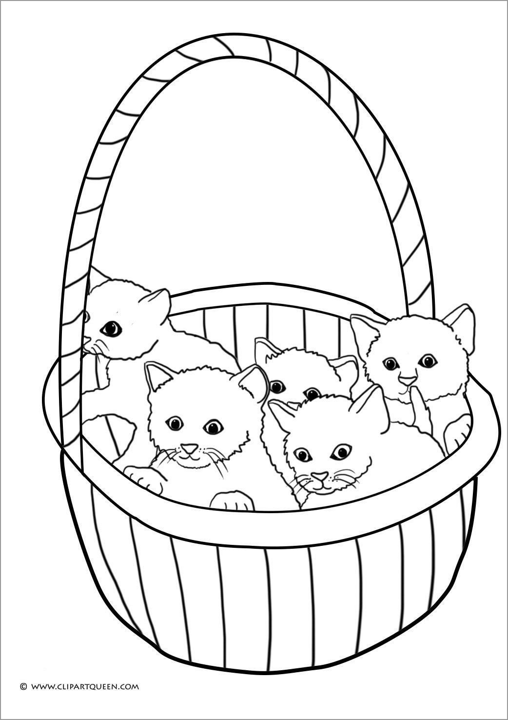 Baby Kitten Coloring Pages : kitten, coloring, pages, Kitten, Coloring, Pages, Preschoolers, ColoringBay