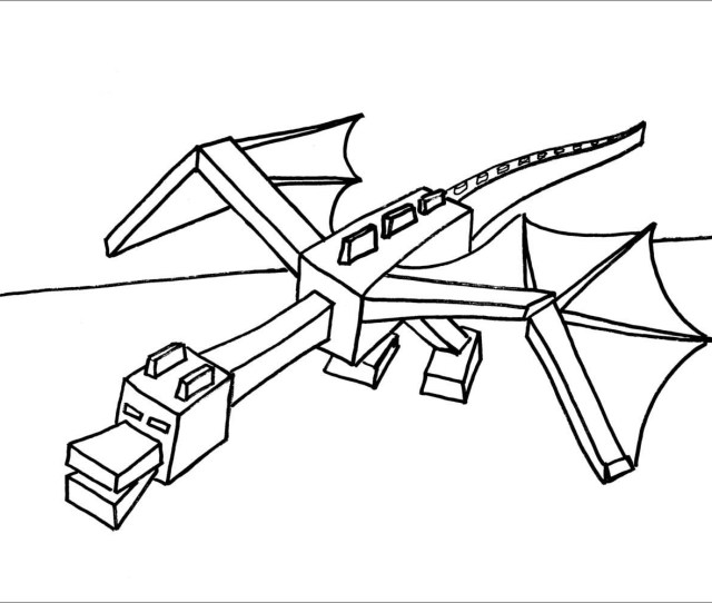 Minecraft Coloring Pages Ender Dragon Coloringbay
