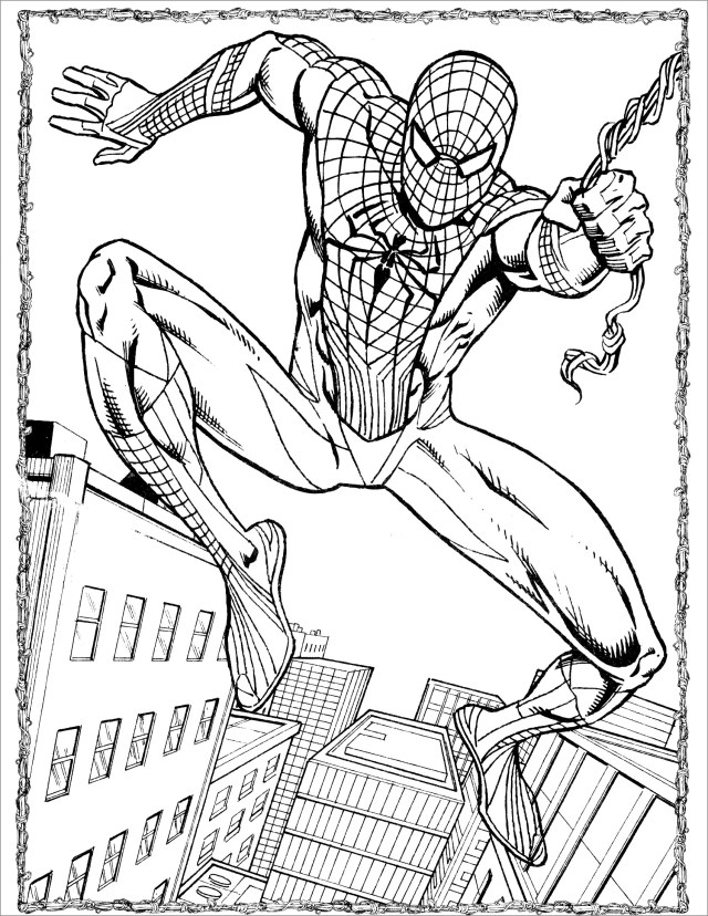 Printable Amazing Spiderman Coloring Page - ColoringBay