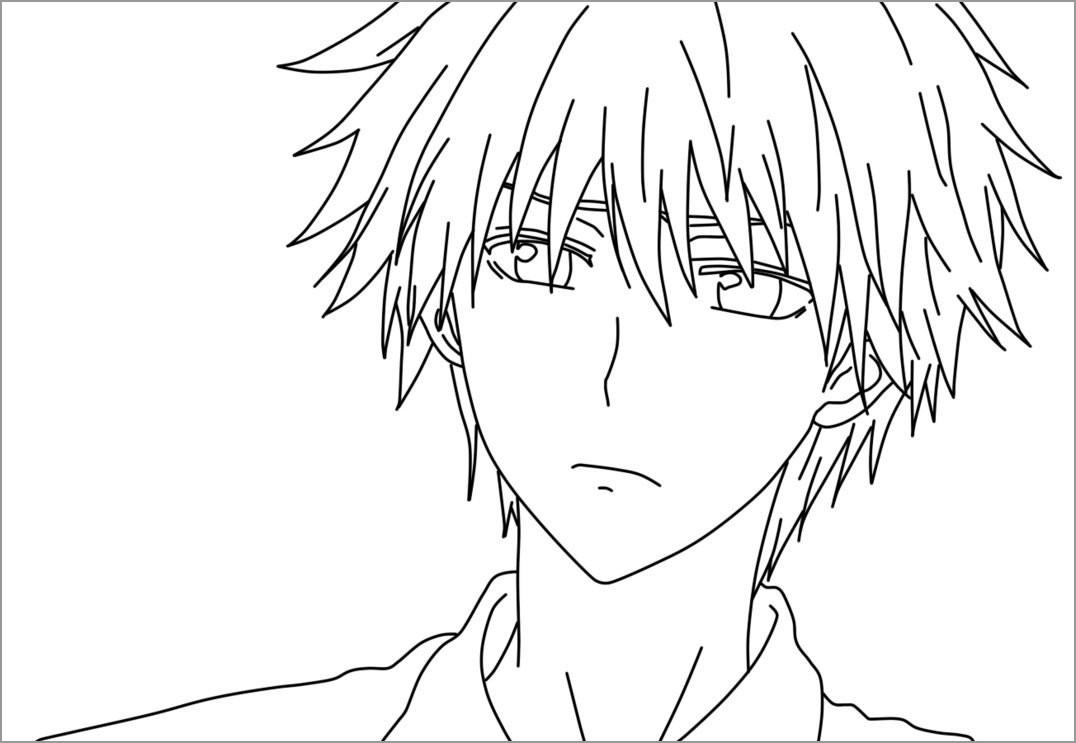 Printable Anime Boy Coloring Page Coloringbay