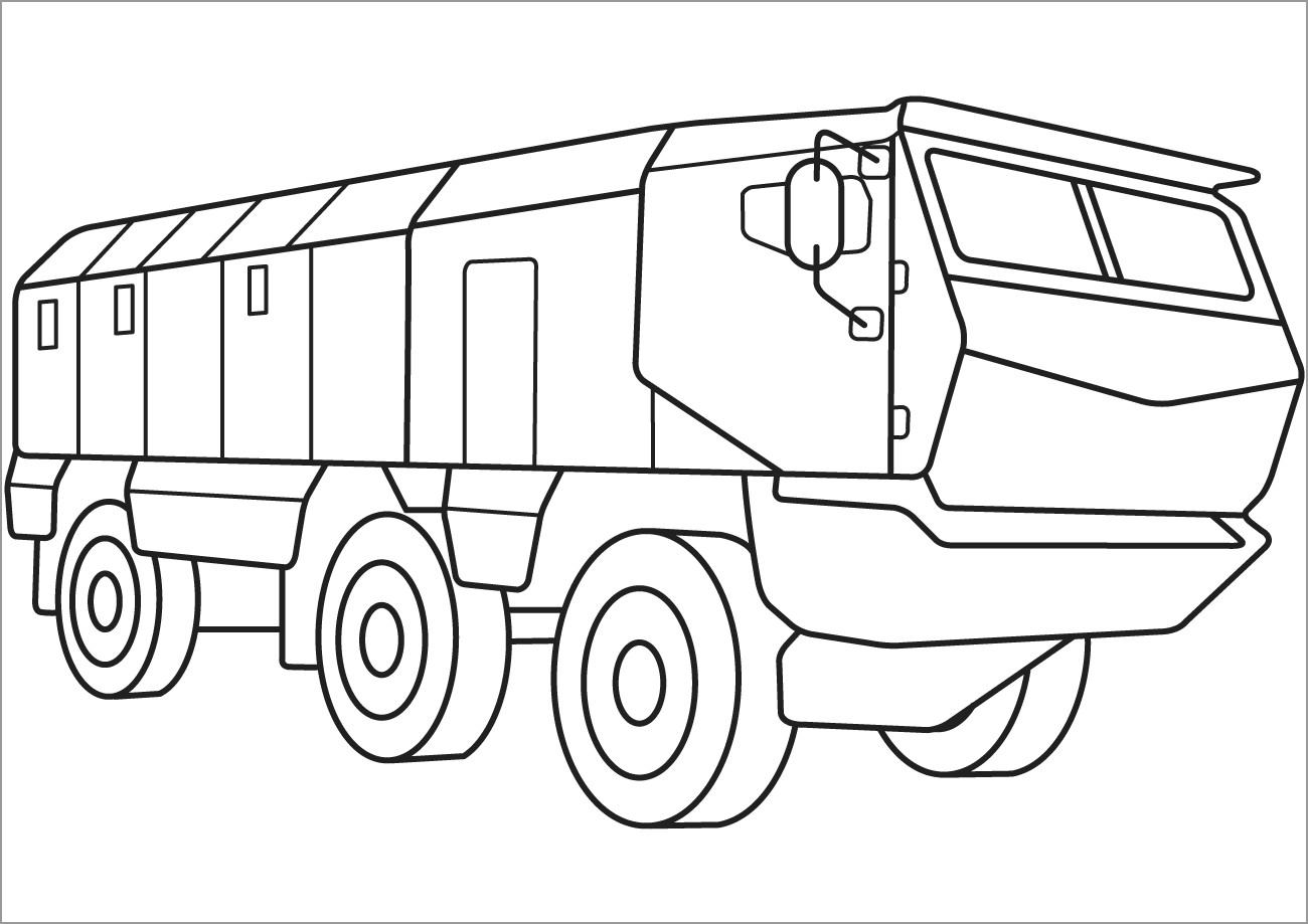 Printable Army Vehicles Coloring Page Coloringbay