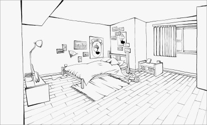 Bedroom Coloring Pages ColoringBay