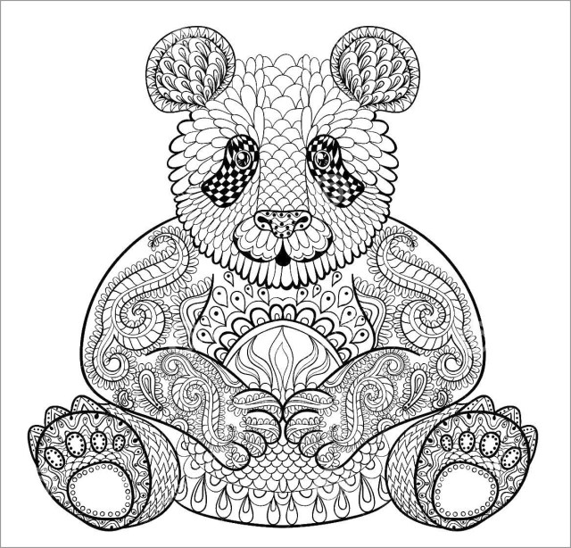 Printable Panda Coloring Pages for Adult - ColoringBay